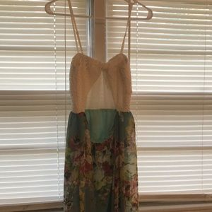 Dresses - Summer maxi dress with partial back out.